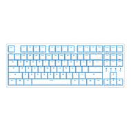 billige -DURGOD Taurus K320 USB Wired Mekanisk tastatur Gaming Selvlysende Blå baggrundsbelyst 87 pcs nøgler