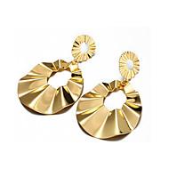 זול -בגדי ריקוד נשים סגנון וינטג' עגילי טיפה עגילים סופגניות אופנתי תכשיטים זהב עבור יומי חגים זוג 1