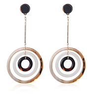 preiswerte -Damen Tropfen-Ohrringe Ohrringe Donuts Retro Böhmische Süß Schmuck Weiß / Braun Für Geschenk Alltag Karnival Festival 1 Paar