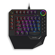 abordables -dareu ek828 clavier usb filaire mécanique jeu unique main taille mini multicolore rétroéclairé 68 pcs touches