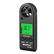billige -digital anemometer håndholdt vindhastighed målermåler holdpeak hp-816b luftmængde hastighedsmåling termometer med vind chill og baggrundsbelysning til windsurfing kite flyve sejlads surfing