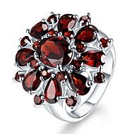 זול -בגדי ריקוד נשים רובי סינתטי טבעת מסוגנן Fashion Ring תכשיטים כסף עבור יומי