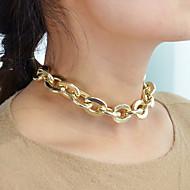 Χαμηλού Κόστους -Γυναικεία Belcher Κολιέ με Αλυσίδα Μοντέρνα Απίθανο Χρυσό 32 cm Κολιέ Κοσμήματα 1pc Για Καθημερινά