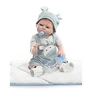ราคาถูก -NPKCOLLECTION Reborn Dolls เด็กทารก 22 inch ซิลิโคนร่างกายเต็มรูปแบบ ไวนิล - น่ารัก ดีไซน์มาใหม่ การปลูกถ่ายประดิษฐ์ตาสีฟ้า เด็ก ทุกเพศ Toy ของขวัญ