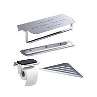 رخيصةأون -قضيب المنشفة / حاملة ورق التواليت / رف الحمام كوول / متعددة الوظائف معاصر / أنتيك الفولاذ المقاوم للصدأ 4PCS - حمام فردي / مزدوج / 1-منشفة بار مثبت على الحائط
