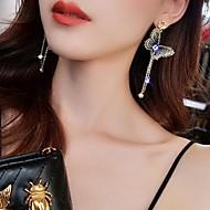 levne -Dámské Visací náušnice Náušnice Motýl stylové Šperky Tmavomodrá Pro Denní 1 Pair