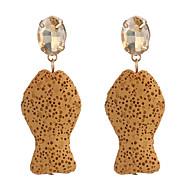 Χαμηλού Κόστους -Γυναικεία Τροπικό Κρεμαστά Σκουλαρίκια Σκουλαρίκι θαυμαστής σκουλαρίκια Σκουλαρίκια Ευλογημένος Στυλάτο Φύση Τροπικό Κορεάτικα Μπόχο Κοσμήματα Μαύρο / Κίτρινο / Κόκκινο Για