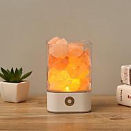 זול -1pc USB קריסטל אור טבעי Himalayan מלח מנורה אוויר מטהר מצב רוח היוצר מקורה חם מנורת שולחן מנורה עבור מנורת לבה