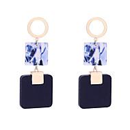 Χαμηλού Κόστους -Γυναικεία Γεωμετρική Κρεμαστά Σκουλαρίκια Σκουλαρίκι θαυμαστής σκουλαρίκια Ξύλο Σκουλαρίκια Απλός Κορεάτικα Μοντέρνα Κοσμήματα Λευκό / Μαύρο / Σκούρο μπλε Για Απόκριες Δρόμος Αργίες Δουλειά 1 Pair