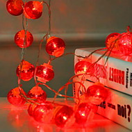 billige -3M Lysslynger 20 LED Rød Dekorativ AA batterier drevet 1set