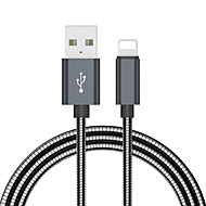 cheap -Lightning Cable 2.0m(6.5Ft) Braided Aluminum USB Cable Adapter For iPad / iPhone