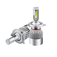 abordables -2pcs H7 / 9005 / 9006 Automatique Ampoules électriques 36 W COB 3800 lm LED Lampe Frontale Pour Universel Toutes les Années