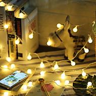 billige -5 m Lysslynger 50 LED Varm hvit Dekorativ AA batterier drevet 1set