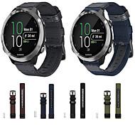 billige -Klokkerem til vivomove / vivomove HR / Vivoactive 3 Garmin Sportsrem Nylon / Ekte lær Håndleddsrem
