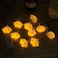 billige -3.3m Lysslynger 20 LED Varm hvit Dekorativ AA batterier drevet 1set