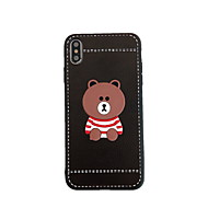 preiswerte -Hülle Für Apple iPhone XS Max / iPhone 6 Muster Rückseite Cartoon Design Hart PU-Leder für iPhone XS / iPhone XR / iPhone XS Max