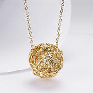 levne -Dámské Náhrdelníky s přívěšky Klasika Radost Módní Pozlacené Zlatá 45+5 cm Náhrdelníky Šperky 1ks Pro Dar Denní
