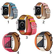 baratos -smartwatch banda para apple watch series 4/3/2/1 clássico fivela iwatch cinta duplo círculo