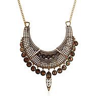 levne -Dámské Kubický zirkon Prohlášení Náhrdelníky Geometrické Blahoslavený Vintage Chrome Zlatá Stříbrná 45 cm Náhrdelníky Šperky 1ks Pro Dar Denní
