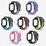 billiga -ny silikon en rem för Apple Watch Band 44mm 40mm ersätt andas armband för iwatchband 4 3 2 1 sportband 38mm 42mm