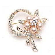 tanie -Damskie Broszki Sztuczna perła Kwiat Elegancki Broszka Biżuteria Złoty Na Codzienny Ulica