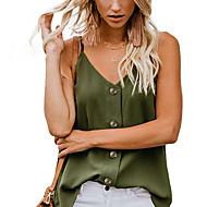 abordables -Tee-shirt Femme, Couleur Pleine Mosaïque Basique Vert US6