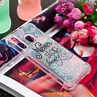 voordelige -hoesje Voor Samsung Galaxy Galaxy A30(2019) / Galaxy A50(2019) Schokbestendig / Stromende vloeistof / Patroon Achterkant Woord / tekst / Glitterglans Zacht TPU voor A6 (2018) / A6+ (2018) / Galaxy