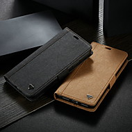 cheap -Case For Apple iPhone XS Max / iPhone 6 Card Holder / with Stand Back Cover Solid Colored Hard Genuine Leather for iPhone XS / iPhone XR / iPhone XS Max