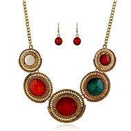 tanie -Damskie Syntetyczny akwamaryn Klasyczny Biżuteria Ustaw Błogosławiony Klasyczny Zawierać Zestawy biżuterii ślubnej Tęczowy Na Ślub Impreza