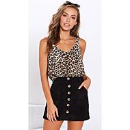 ราคาถูก -สำหรับผู้หญิง เสื้อกล้าม ลายเสือ สีน้ำตาล US2