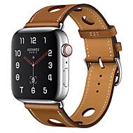 billiga -watch band för Apple Watch serien 4/3/2/1 äpple klassiska spänne äkta läder handledsrem