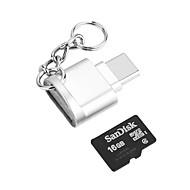 povoljno -tip-c otg tf čitač kartica cink legura ključ lanac adapter