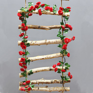 cheap -Artificial Flowers 1 Branch Wall-Mounted Suspended Stage Props Wedding Roses Wall Flower