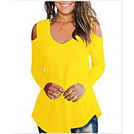billige -T-skjorte Dame - Ensfarget, Lapper Grunnleggende Svart US4
