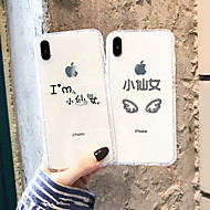 economico -Custodia Per Apple iPhone XS Max / iPhone 6 Transparente / Fantasia / disegno Per retro Frasi famose Morbido TPU per iPhone XS / iPhone XR / iPhone XS Max