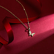 levne -Dámské Náhrdelník Charm náhrdelník Motýl Lahůdka Jednoduchý Klasické Vintage Chrome Zlatá 46 cm Náhrdelníky Šperky 1ks Pro Denní Škola Street Dovolená Festival