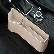 caixa de armazenamento de couro multifuncional para lacuna lateral do assento de carro