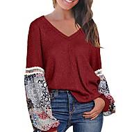 billige -T-skjorte Dame - Fargeblokk Rosa US16 / UK20 / EU48