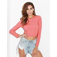 billige -T-skjorte Dame - Ensfarget Gatemote Mørkegrå US00 / UK2 / EU30