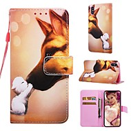 billige -Etui Til Apple iPhone XR / iPhone XS Max Lommebok / Kortholder / med stativ Heldekkende etui Hund Hard PU Leather til iPhone XS / iPhone XR / iPhone XS Max