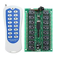baratos -Interruptor de controle remoto rf do canal sem fio 16ch com transmissor para casa inteligente