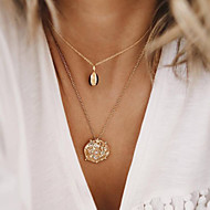 cheap -Women's Necklace Layered Necklace Chrome Gold 54 cm Necklace Jewelry 1pc For Daily School Street Holiday Festival