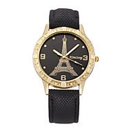 povoljno -Žene Sat uz haljinu Kvarc Moderna Sa stilom Koža Crna / Pink Ne Casual sat Cool Analog Eiffelov toranj Moda - Crn Pink Dvije godine Baterija Život