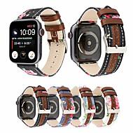 ieftine -panza din stofă / piele model fadeless benzi de curea tipărită pentru seria iwatch 1/2/3/4