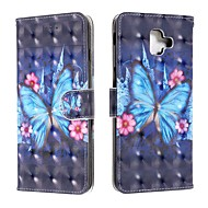 cheap -Case For Samsung Galaxy J6 (2018) / J4 (2018) / Galaxy J4 Plus(2018) Wallet / Card Holder / Flip Full Body Cases Butterfly PU Leather For Samsung Galaxy J6 Plus/M10/M20/M30