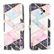 cheap -Case For Samsung Galaxy J6 (2018) / J4 (2018) / Galaxy J4 Plus(2018) Wallet / Card Holder / Flip Full Body Cases Geometric Pattern PU Leather For Samsung Galaxy J6 Plus/M10/M20/M30