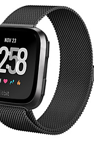 tanie -Watch Band na Fitbit Versa Fitbit Metalowa bransoletka Stal Opaska na nadgarstek
