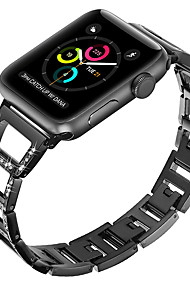 cheap -Watch Band for Apple Watch Series 4/3/2/1 Apple Modern Buckle / Jewelry Design Metal / Stainless Steel Wrist Strap