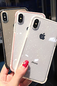cheap -Case For Apple iPhone XR / iPhone XS Max Shockproof / Translucent Back Cover Glitter Shine Soft TPU for iPhone XS / iPhone XR / iPhone XS Max