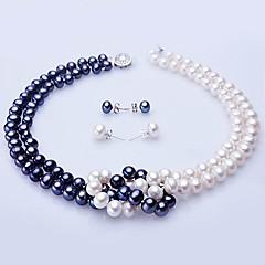 abordables Collares-Como la foto Perla Conjunto de joyas - Plata Incluir Para Boda Fiesta Aniversario / Pedida / Regalo / Pendientes / Collare